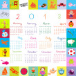 2013 calendar for kids — Stock Vector #9146771