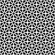 Geometric seamless pattern in black and white - Stock Vector
