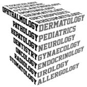 Typography with medical terms — Stock Photo