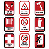 Fire caution signs — Stock Vector