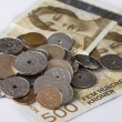 Closeup of Norwegian money. — Stock Photo