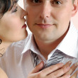 Bridegroom and bride - Stock Photo
