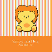 Greeting Card for baby — Stock Vector