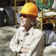 Senior male construction worker - Stockfoto