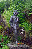Statue of Edward Grieg near by his house in Bergen — Stock Photo