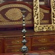 Stock Photo: Hookah in beautiful wooden room