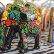 Handcraft wood elephant sculptures - Stock Photo