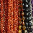 Lot of colored beads from different minerals — Zdjęcie stockowe #9685742