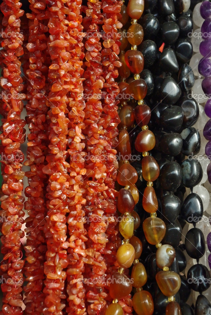 Texture from the different semi precious stone beads — Stock Photo #9685742