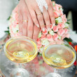 Foto Stock: Champagne on wedding