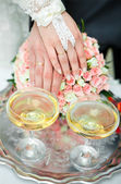 Champagne op wedding — Stockfoto