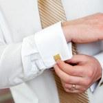 Tie of the groom — Stock Photo