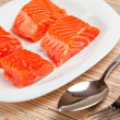 Fish for breakfast preparation - Stock Photo