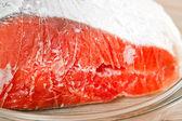 Červené zmrazených ryb, losos, pstruh — Stock fotografie
