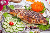 Fish fried for a breakfast — Stock Photo