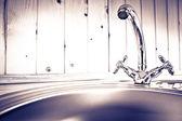 The kitchen water crane — Stock Photo