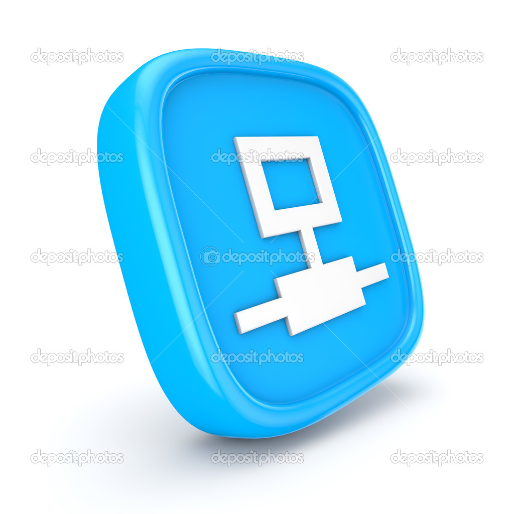 Network icon 3d render illustration — Stock Photo #10340604