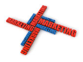 Marketing cloud word — Stock Photo