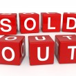 Sold out cubes — Stock Photo #8819233