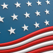 USA flag 3d render - Stock Photo