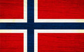 Bandeira da noruega — Fotografia Stock
