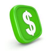 иконка доллар — Стоковое фото