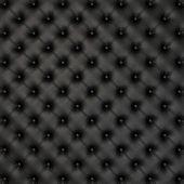 Black Leather Background — Stock Photo