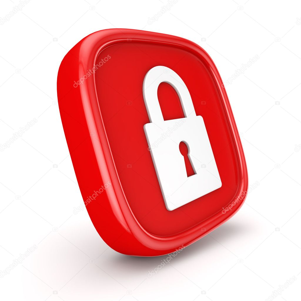 Padlock Icon 3d render illustration — Stock Photo #9779643
