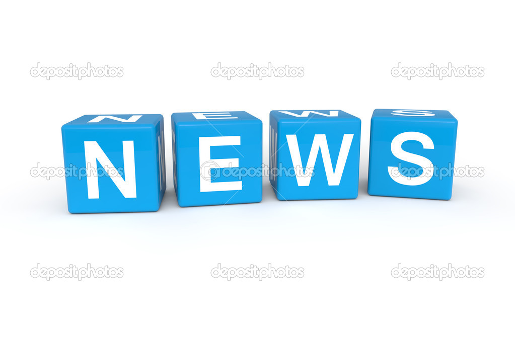 News cubes 3d render illustration — Stock Photo #9780662