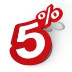 Percent sticker — Stock Photo #9826263