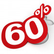 Percent sticker — Stock Photo #9826355