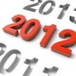 new year 2013 3d render — Stock Photo