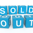Sold Out cubes — Stock Photo