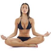 Beautiful Woman Practive Yoga — Stock Photo