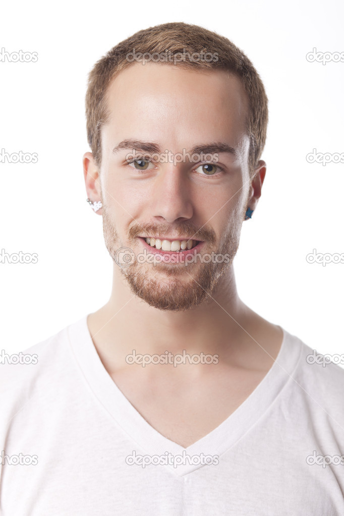 Good Looking Young Man Portrait on white  Stock Photo #8903726