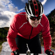Cyclist on the road - Stock Photo