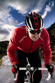 Cyclist on the road — Stock Photo