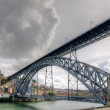 Steel bridge Ponte dom Luis - Stockfoto