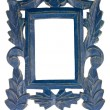 Empty Blue Picture Frame — Stock Photo