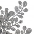Christmas decorative silver leaves — Foto de Stock