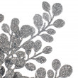 Christmas decorative silver leaves — Photo
