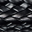 Black leather woven pattern — Stock Photo #8541649