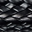 Black leather woven pattern — Stock Photo