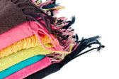 Pile of colorful scarves — Foto de Stock