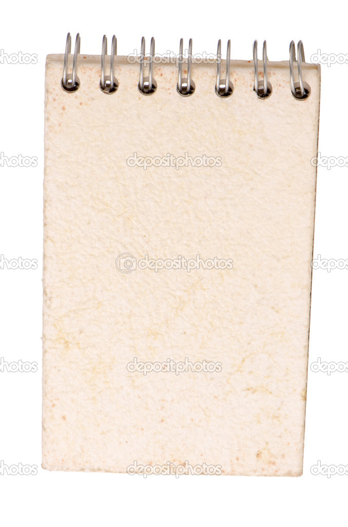 Blank spiral notepad isolated on white background.  Stock Photo #8793029