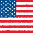USA flag grunge — Stock Photo