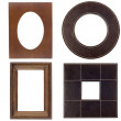 Four antique picture frames — Stock Photo #8877160