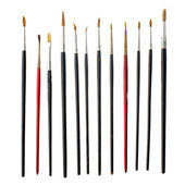Used art brushes — Stock Photo