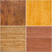 Set van houten texturen — Stockfoto