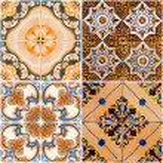 Vintage ceramic tiles — Stock Photo #9356434
